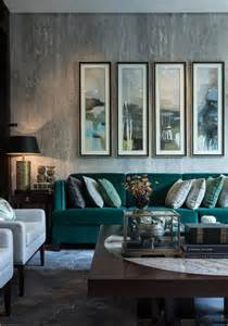 Green Sofa Living Room by 30 Green And Grey Living Room D 233 Cor Ideas Digsdigs