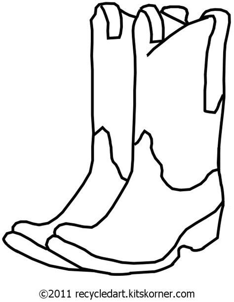 blank cowboy boots  embroidery pattern kitskorner