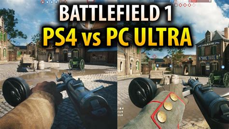 Battlefield 1 Ps4 Bd Ps4 battlefield 1 ps4 vs pc ultra settings graphics