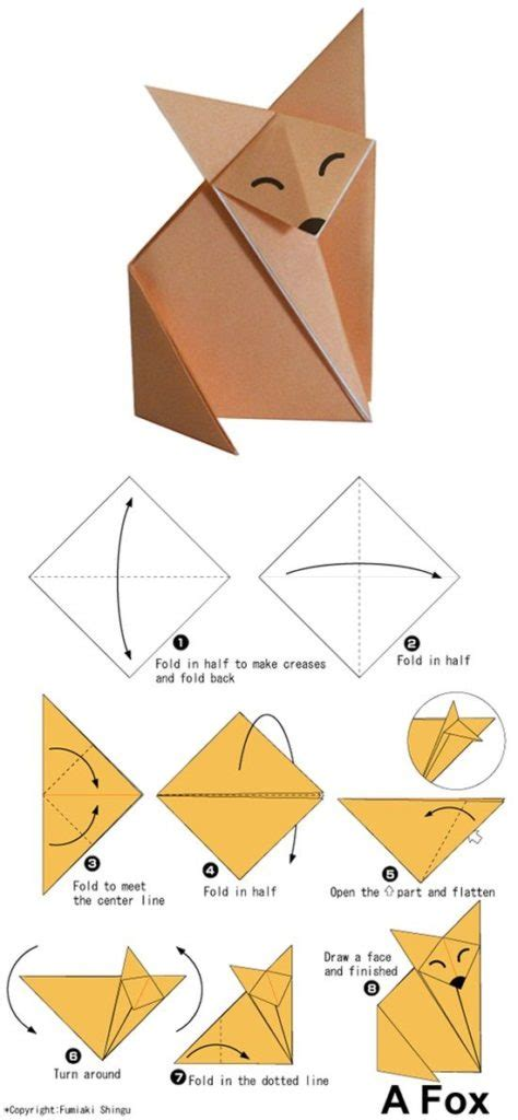 Animal Origami For - free coloring pages 17 best ideas about easy origami