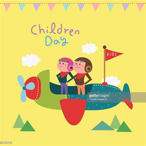 children s day card template a card template for childrens day stock illustration