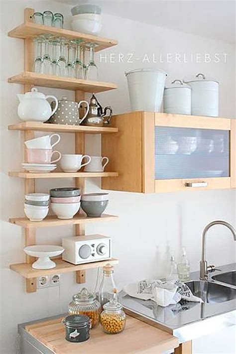 small kitchen shelving ideas inspiraci 243 n para cocinas estanter 237 as abiertas cut