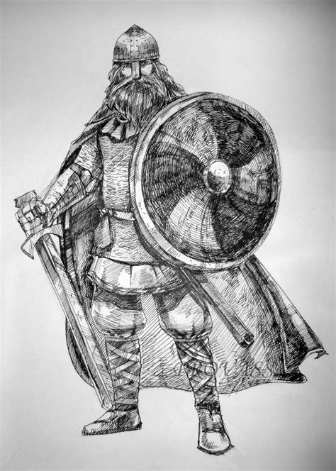detailed pencil drawings my viking by provass on deviantart