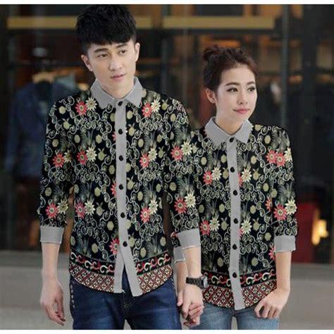 Kemeja Batik Black Prada jual baju batik prada simple elegan harga murah