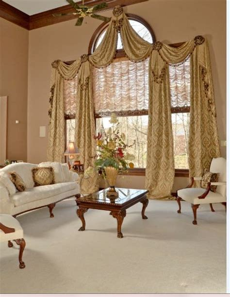 window treatments for large windows Bedroom Traditional with arch windows arched window