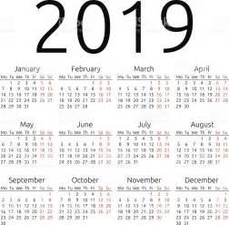Calendario 2018 E 2019 Simples Vetor Calend 225 2019 Vetor E Ilustra 231 227 O Royalty