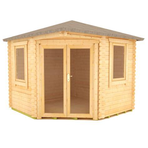 Plastic Corner Shed by Bengal Corner Cabins 28mm Log Cabin