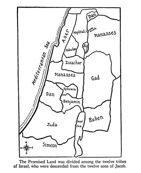 Map Of Israel Coloring Page free coloring pages of 12 tribes of israel