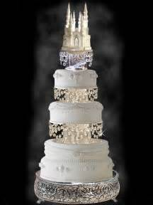 castle wedding cake cinderella castle cake topper wedding fairytale with swarovski crystals and rhinestones lighted
