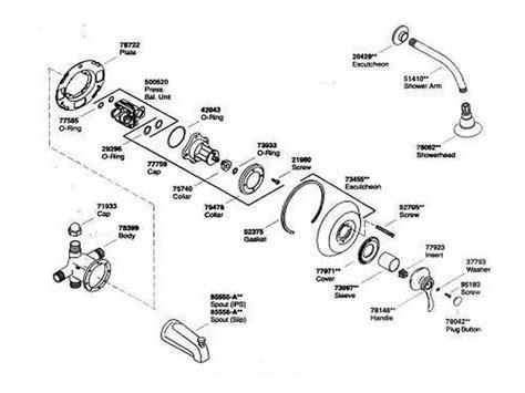 kohler shower parts diagram kohler parts diagram wiring diagram schemes