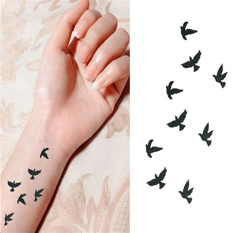 tattoo finger vogel 10cm wrist flash tattoo fake tatto birds design waterproof