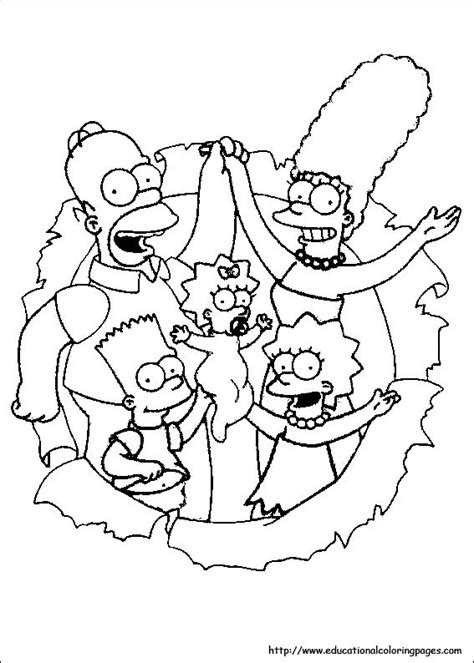 the simpsons coloring pages the simpsons coloring pages free for