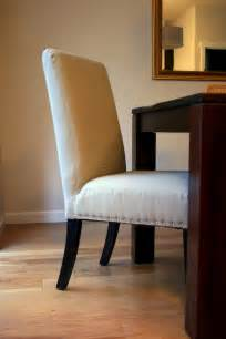 How To Make A Dining Chair So Proud Of My Upholstery Project Nailhead Parsons Chairs Makeover Create Enjoy