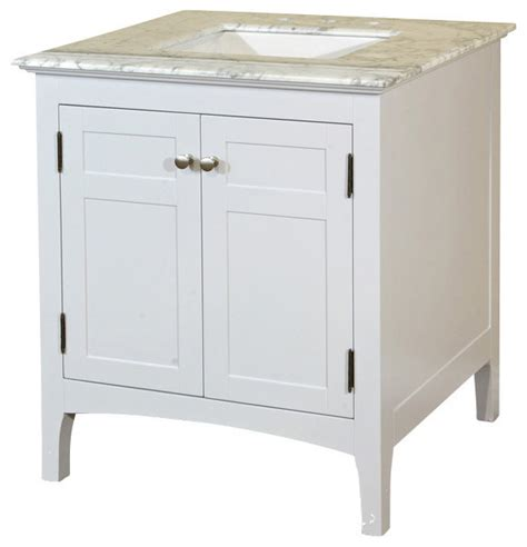 29 Inch Single Sink Vanity Wood White Cabinet Only Transitional Bathroom Vanities