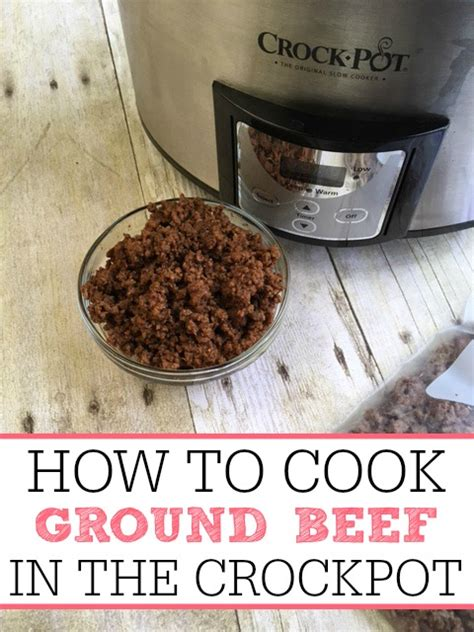how to cook ground beef in the crockpot frugally blonde