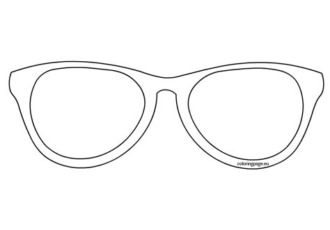 coloring page sunglasses sunglasses outline clip art sketch coloring page