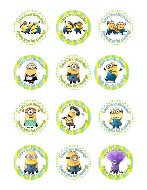 printable stickers minions 196 best nicole s minions birthday images on pinterest