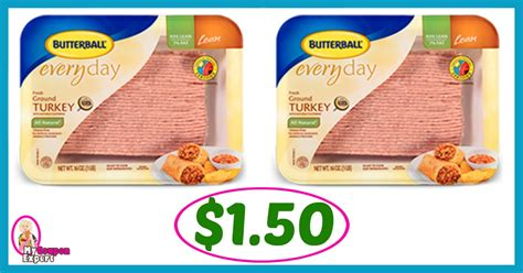 printable butterball ground turkey coupons winn dixie hot deal alert butterball 85 lean ground