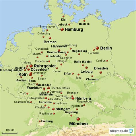deutsches büro grüne karte adresse deutschlands gro 223 st 228 dte maxi76 landkarte f 252 r deutschland