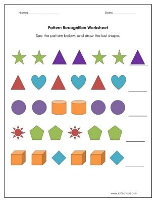 pattern recognition math worksheets number names worksheets 187 abc patterns worksheets free