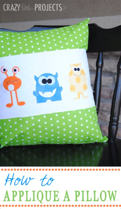 Can You With A Pillow by How To Applique Throw Pillow Tutorial