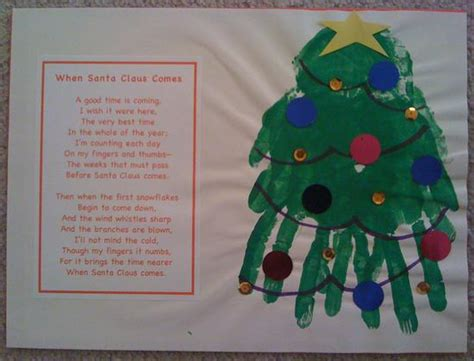 christmas tree handprint poem print calendar december
