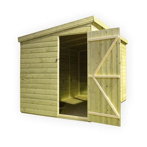 14 x 6 pressure treated tongue and groove pent shed with 3