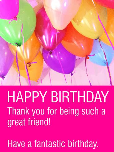 Happy Birthday Friend Cards Have A Fantastic Birthday Happy Birthday Card For