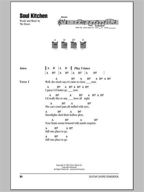 Soul Kitchen Lyrics by Guitar Instructor Select Country