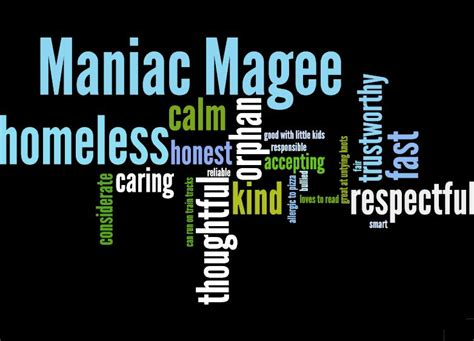 maniac magee book report maniac magee themes wordle multi genre author project