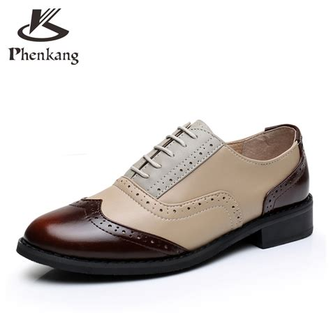 oxford flats shoes flats leather oxford shoes for big size