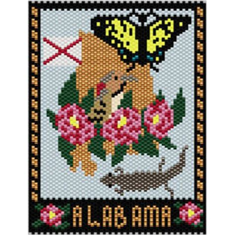 beaded tapestry patterns alabama state mini tapestry bead patterns