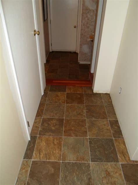 Custom Vinyl Flooring by Kitchen Sheet Vinyl Tile Look Tarkett Traditional