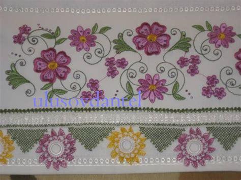 pembe beyaz iekli yazma kenar oya rnekleri havlu kenarı 246 rnekleri pembe beyaz oya