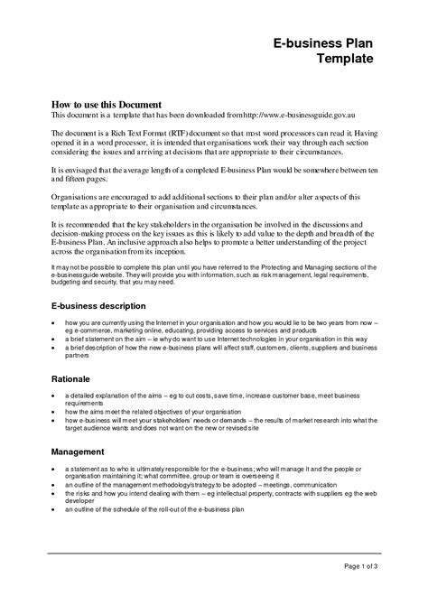 Business Plan Format Template Business Letter Template Business Outline Template