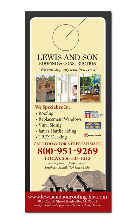 Home Remodeling Door Hanger Sles Home Improvement Flyer Template Free