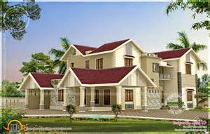 modern mix kerala house elevation in different colors