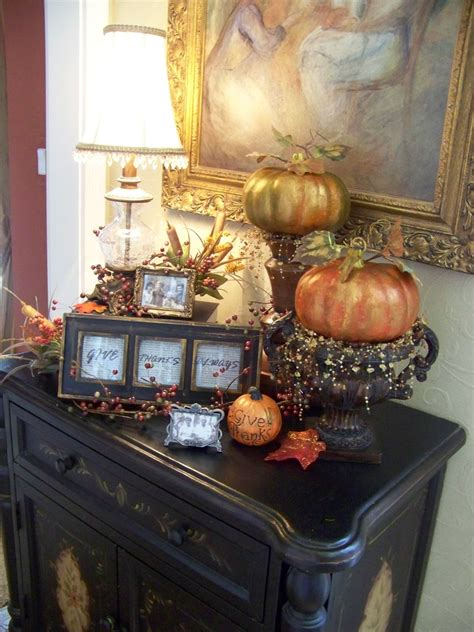 Fall Foyer Decorating Ideas dress up your entry table this fall design bookmark 13303
