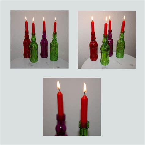 Flaschen Kerzenhalter by Kerzenhalter Recyclingkunst Und Der Versuch Langsam Und