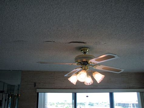 cocoa beach popcorn ceiling texture is falling down
