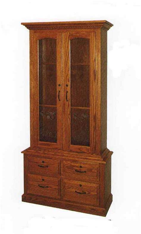 Amish Gun Cabinets In Standard Designs Amish Custom Gun 2 Door Gun Cabinet