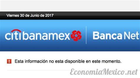 banamex bancanet usuarios reportan en redes sociales fallas en el servicio