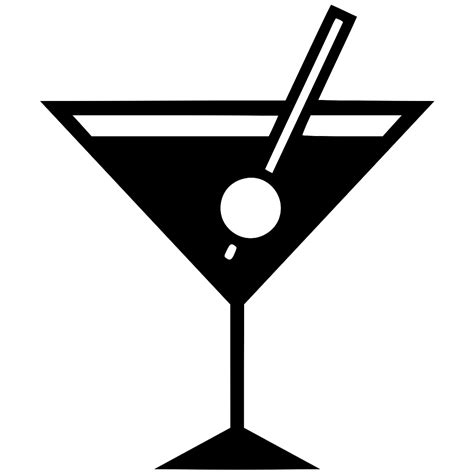 cocktail svg coctail martini nightlife glass wine svg png icon