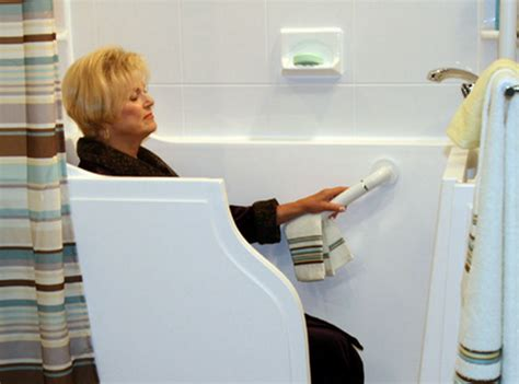 bathtub with door for seniors preventing senior falls in the bathroom with walk in tubs