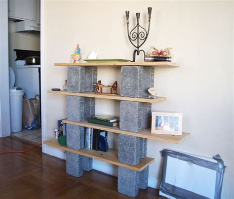 block shelf cinder block bookcase cinderblock ideas pinterest