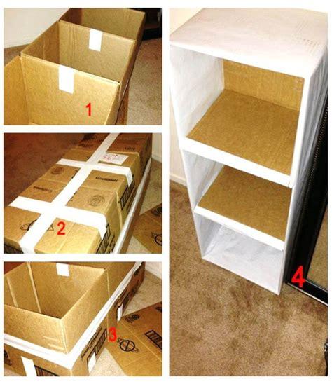 membuat rak mini dari bahan kardus bekas 8 cara membuat lemari minimalis untuk anak kost mamikos