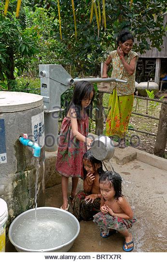 Khmer Take A Shower by Cambodia Water Well Stock Photos Cambodia Water Well