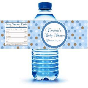 Water Bottle Labels For Baby Shower Template Free by Printable Blue Polka Dots Water Bottle Labels Wrappers