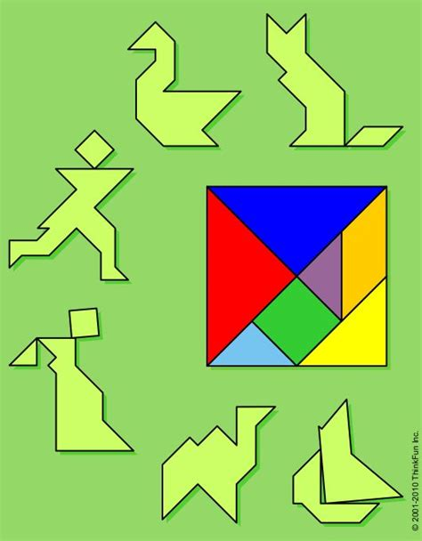 pattern blocks activities middle school puzzle playground the tangram printable brainteaser