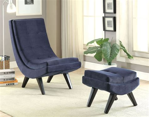 navy accent chair with ottoman esmeralda navy accent chair with ottoman from furniture of